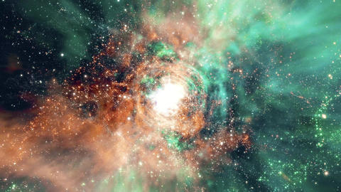 Space 2240: Flying through star fields and galaxies in deep space Animation