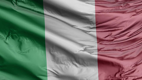 Italy Flag Real Animation Loop Animation