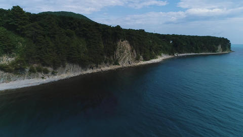 Black sea coast. Turquoise sea, camping, swimming tourists, tourism and Footage