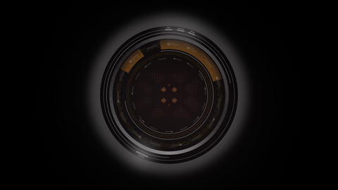 HUD UI Circle Lens Animation