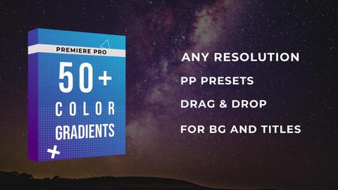 50+ Color Gradient Presets Premiere Pro Effect Preset
