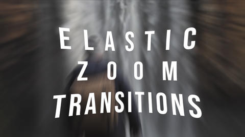 Elastic Zoom Transitions Premiere Pro Template