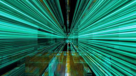 Data Storm 0514: Futuristic digital light forms flicker and shine Animation