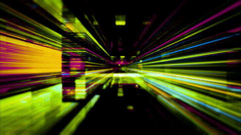 Data Storm 0515: Traveling through a maze of flickering high energy light streaks Animation