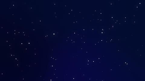 Animated stars on dark blue sky Animation