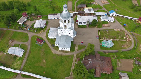 Top View of Orthodox Monastery Footage