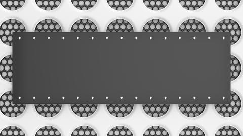 0913 Animated black and white banner Footage