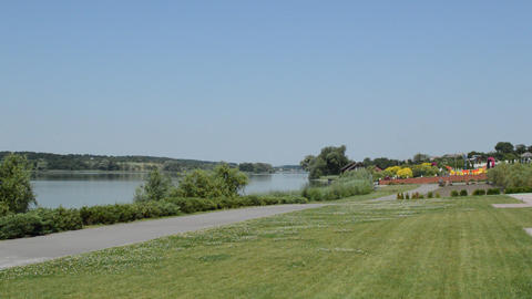Panorama of the river in the countryside in summer, Live Action