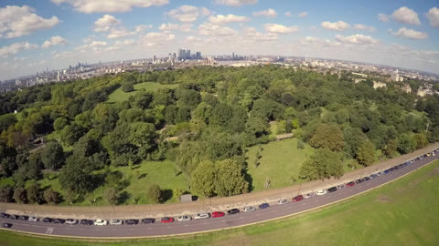 Aerial view of Greenwich park Live Action