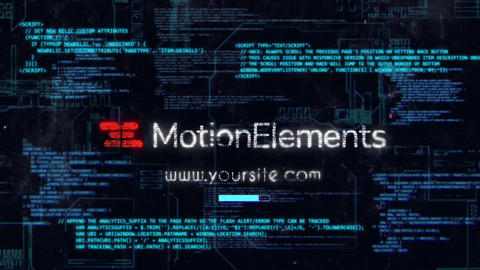 Cyber Hack Logo After Effects Template