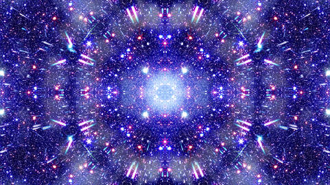 Video Background 2312: Multidimensional space travel star field kaleido Animation