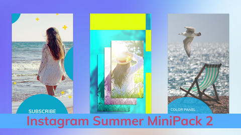 Instagram Summer Stories MiniPack Vol 2 After Effectsテンプレート