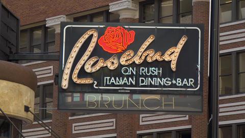 Rosebud Italian Dining Bar - CHICAGO. UNITED STATES - JUNE 11, 2019 Live Action
