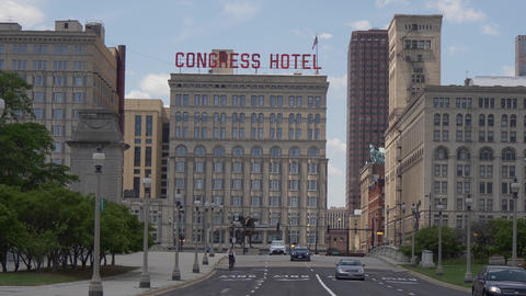 Congress Hotel in the city of Chicago - CHICAGO. UNITED STATES - JUNE 11, 2019 Live Action