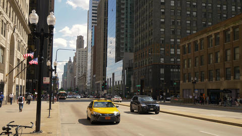 Famous Michigan Avenue in Chicago - CHICAGO. UNITED STATES - JUNE 11, 2019 Footage