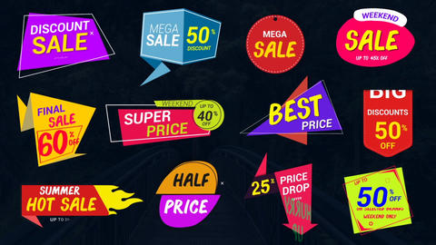 Sale Lables & Badges-2 After Effects Template