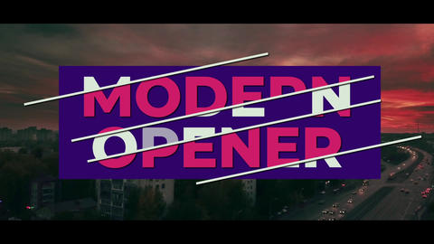 Modern Titles Opener After Effects Template
