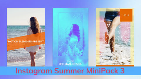 Instagram Summer Stories MiniPack Vol 3 After Effectsテンプレート