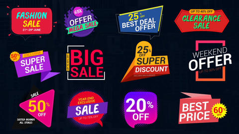 Sale Lables & Badges-3 After Effects Template
