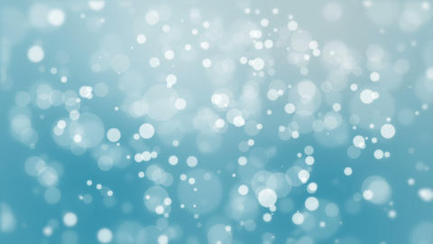 Winter blue bokeh background Animation