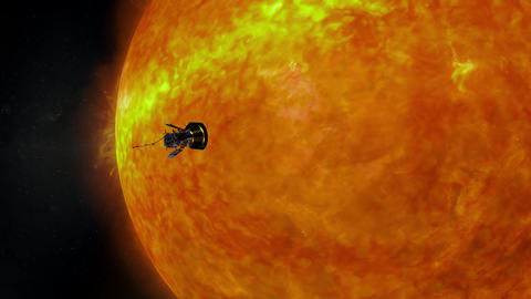 Sun surface animation. Parker Solar Probe. Nasa Public Domain Imagery Animation