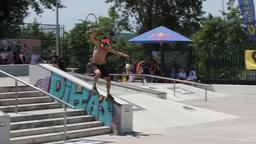 Pedro Machado during the DC Skate Challenge Footage