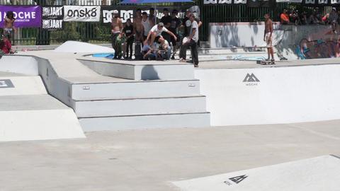 Manuel Santos during the DC Skate Challenge Footage