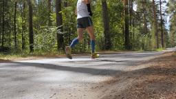 elderly male runner Footage