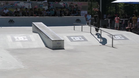 Joao Santos during the DC Skate Challenge Footage