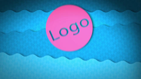 Bouncy Water Logo Transition After Effects Template