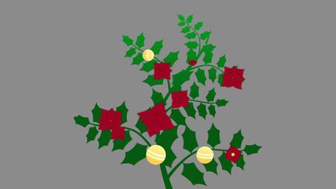 Christmas Holly Branch - 3