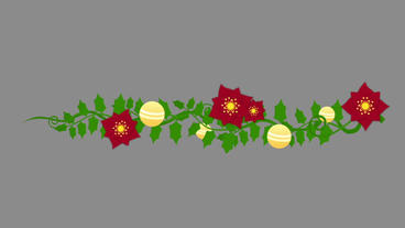 Christmas Holly Vine After Effects Project