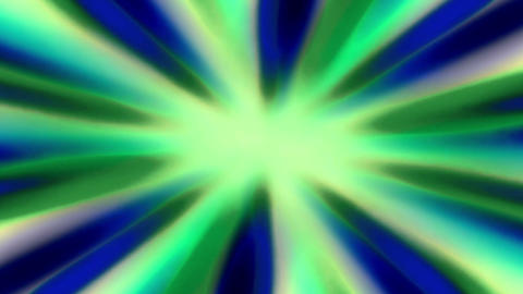 Shiny Sunburst Rays Of Blue And Green Light Loop Backgorund Animation