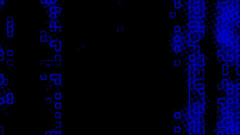 Blue Information Grid Matrix Digital Background Animation