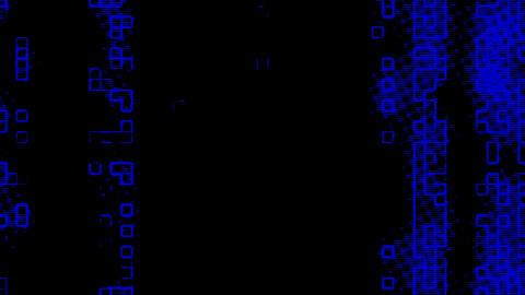 Blue Information Grid Matrix Digital Background Animation