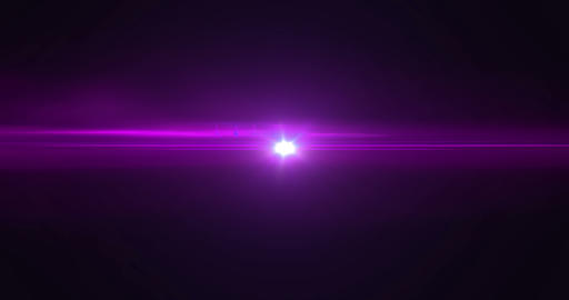 violet pink color bright lens flare flashes leak light effect for transitions movement on black ビデオ