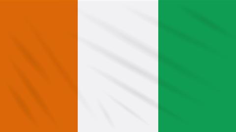 Cote d'Ivoire - Ivory Coas flag, background loop Animation
