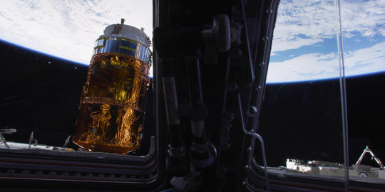 Earth seen from space. International Space Station Footage