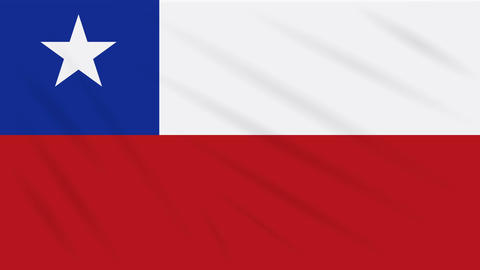 Chile flag waving cloth, background loop Animation