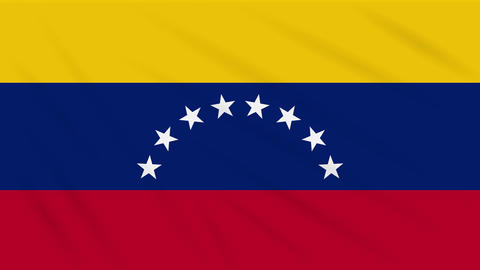Venezuela flag waving cloth, background loop Animation
