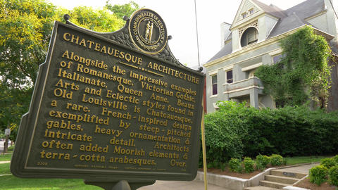 Chateauesque Architecture in Old Louisville - LOUISVILLE, USA - JUNE 14, 2019 Footage