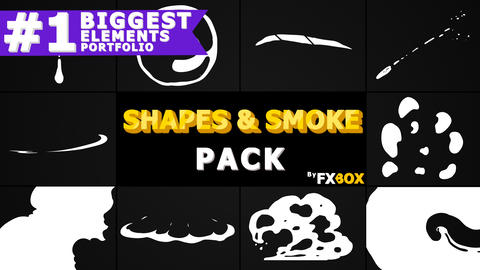 2D Shapes And Smoke Premiere Pro Template