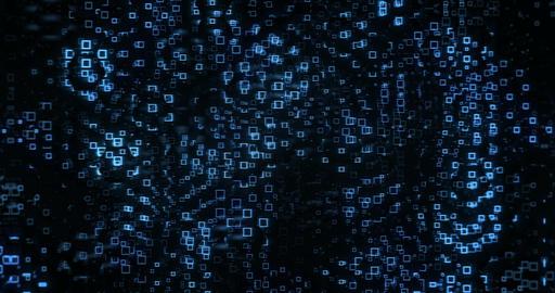 Blue Squares Flash Background 실사 촬영