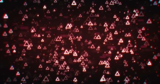 Falling Bright Triangles 실사 촬영