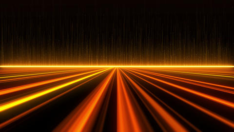 Digital Highway Golden Lines Background Animation