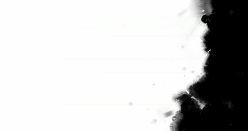 white multi abstract splash ink paint brush horizontal and oblique stroke black transition on black Live Action