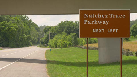 Natchez Trace Parkway in Tennessee - LEIPERS FORK, TENNESSEE - JUNE 18, 2019 Live Action