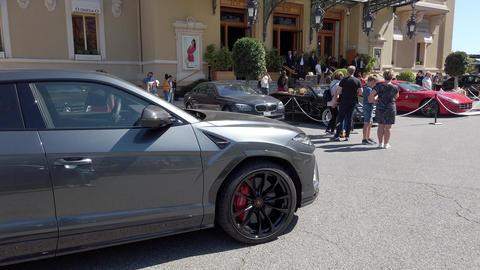 Lamborghini Urus In Front Of The Monaco Casino Footage