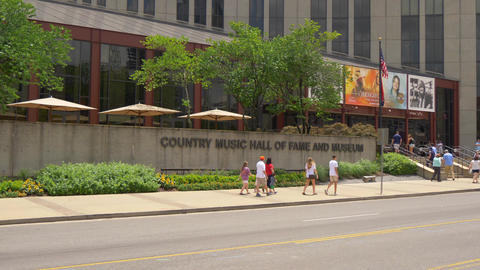 Country Music Hall of Fame and museum in Nashville - NASHVILLE, UNITED STATES - Footage