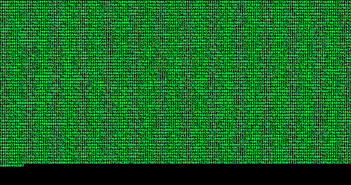 multi numeric number green binary digital code show on black background, computer generated seamless Live Action
